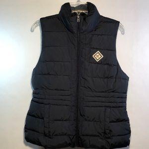Hollister Navy lined vest large